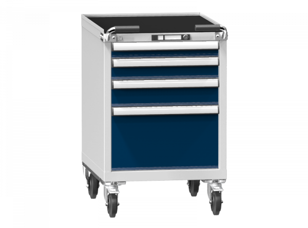 Mobile Container - Rollcontainer - 1+1+1+1 Schublade - 910x578x753 mm (HxBxT)