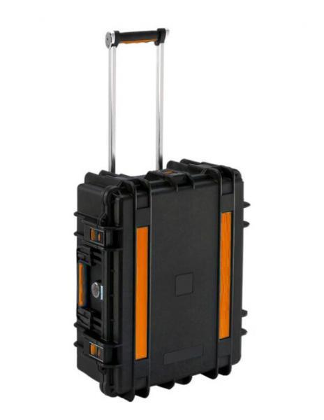 Tablet-Ladetrolley für bis zu 14 Geräte, spritzwassergeschützt - schwarz