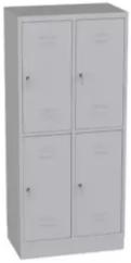 Garderobenschrank - 2 Abteile - 4 Fächer - Grundschule - 1500x810x480 mm (HxBxT)