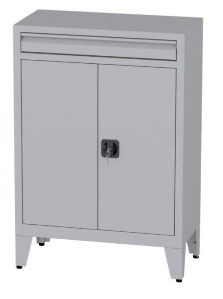 Büroschrank mit Schublade auf Füßen - 2 Einlegeböden - 1160x800x400 mm (HxBxT)
