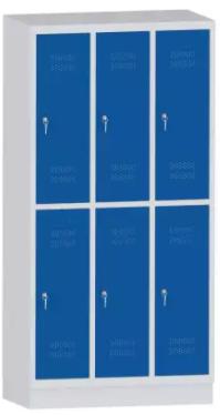 Garderobenschrank - 3 Abteile - 6 Fächer - Grundschule - 1500x900x480 mm (HxBxT)