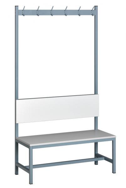 Sitzbank freistehend mit Kleiderhaken - mit Holzplatte - verschiedene Größen