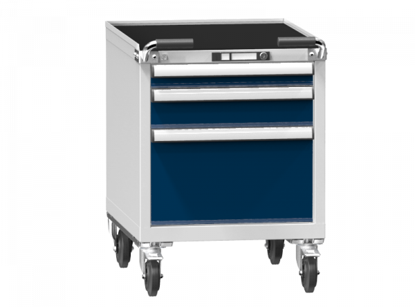 Mobile Container - Rollcontainer - 1+1+1 Schublade - 810x578x753 mm (HxBxT)