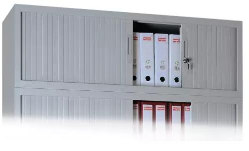 Aufsatzschrank mit Rollladen - 1 Fach - 450x1600x450 mm (HxBxT)