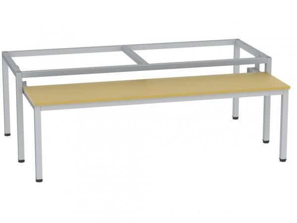 Sitzbank - ausziehbar - zum Schrank SU400/3 - 395x1200x770 mm (HxBxT) - (v. Auszug 485mm)