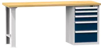 Arbeitstisch KOMBI 800 - 1 + 1 + 1 + 1 + 1 Schubladen