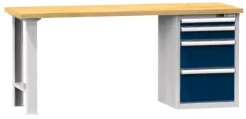 Arbeitstisch KOMBI 700 - 1 + 1 + 1 + 1 Schubladen