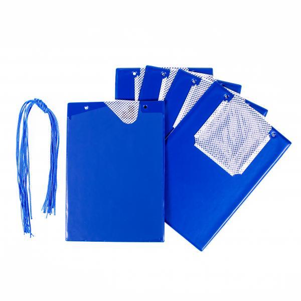 FÖRCH 5er Set Auftragstaschen Werkstattmappen A4 blau