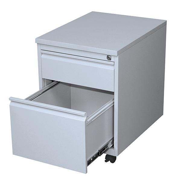 Rollcontainer - Frontgriff - 1 Schublade + 1 Hängeregistratur - 610x460x590 mm (HxBxT)