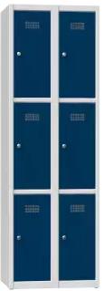 Schließfachschrank - 2 Abteile - 6 Fächer - 1850x600x500 mm (HxBxT)