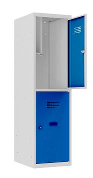 Garderobenschrank - 1 Abteil - 2 Fächer - for young people - 1450x400x500 mm (HxBxT)