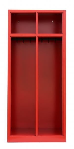 Spind, Feuerwehrschrank - 2 Abteile - 1800x600x500 mm (HxBxT) - Feuerrot