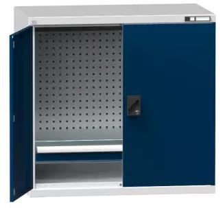 Flügeltürenschrank/ Werkzeugschrank SK1 - gelochte Wände - 1000x1044x625 mm (HxBxT)