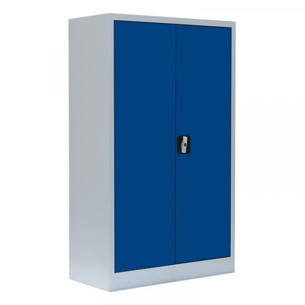 Büroschrank mit Flügeltüren - 2 Einlegeböden - 1200x800x383 mm (HxBxT)
