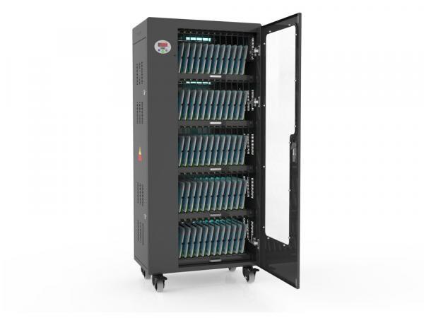 Tablet-Ladewagen für bis zu 65 Geräte - inkl. UV-C Desinfektion und Smart Control