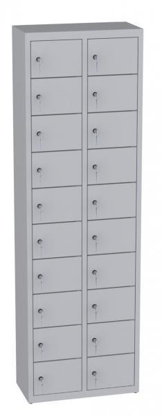 Wertfachschrank stehend - 2 Abteile - 20 Fächer - 1950x610x300 mm (HxBxT)