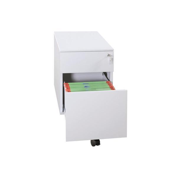 Rollcontainer - Seitengriffleiste - 1 Schublade + 1 Hängeregistratur - 620x400x590 mm (HxBxT)