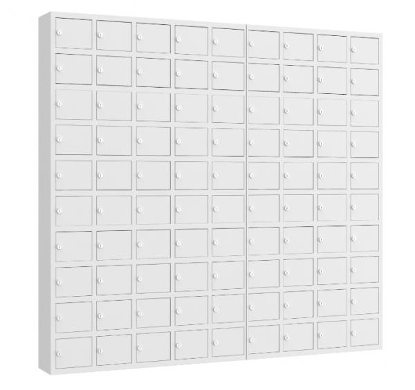 Wertfachschrank mini - stehend oder hängend - 9 Abteile - 90 Fächer - 1530x1650x200 mm (HxBxT)