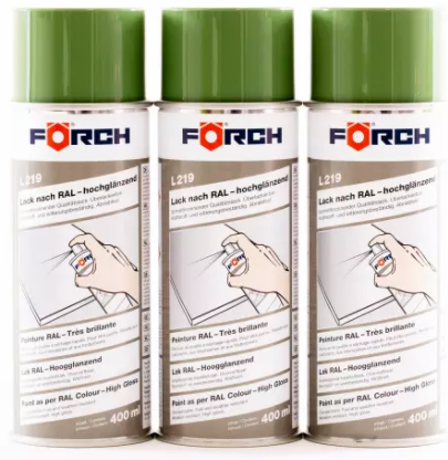 FÖRCH 3er Set Spraydosen Lack resedagrün - hochglänzend RAL6011 L219