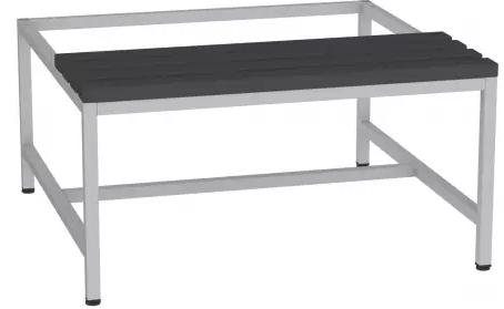 Sitzbank mit Kunststofflatten - zum Schrank SU400/2 - 395x810x770 mm (HxBxT)