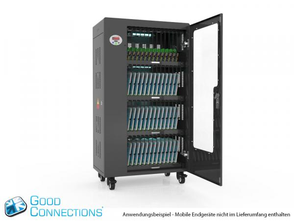 Tablet-Ladewagen für bis zu 52 Geräte - inkl. UV-C Desinfektion und Smart Control