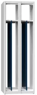 Zusatztrennwand für Spinde mit Sockel - Abteilbreite 400 mm - Höhe 1800mm