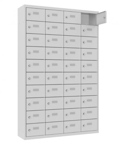 Schließfach/Kantinenschrank - 4 Abteile - 40 Fächer - stehend - 1800x1150x300 mm (HxBxT)
