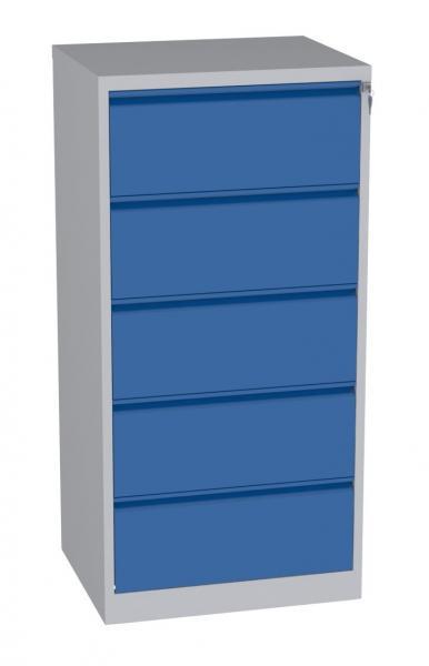 Karteischrank - 5 Schubladen - 1570x770x630 mm (HxBxT) - Hängeregister A4 - waagerecht - 2 Reihen
