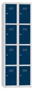 Schließfachschrank - 2 Abteile - 8 Fächer - 1850x600x500 mm (HxBxT)