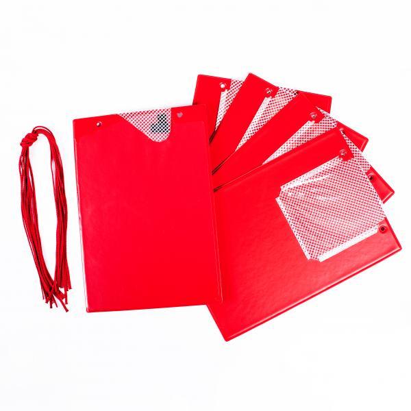 FÖRCH 5er Set Auftragstaschen Werkstattmappen A4 rot