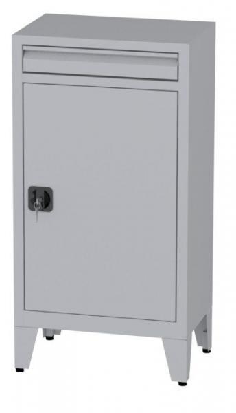Büroschrank mit Schublade auf Füßen - 2 Einlegeböden - 1160x600x400 mm (HxBxT)