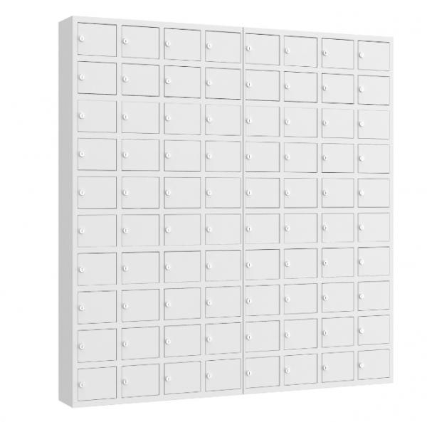 Wertfachschrank mini - stehend oder hängend - 8 Abteile - 80 Fächer - 1530x1470x200 mm (HxBxT)