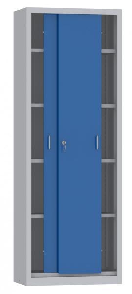 Schiebetürenschrank - 4 Einlegeböden - 1950x700x400 mm (HxBxT)