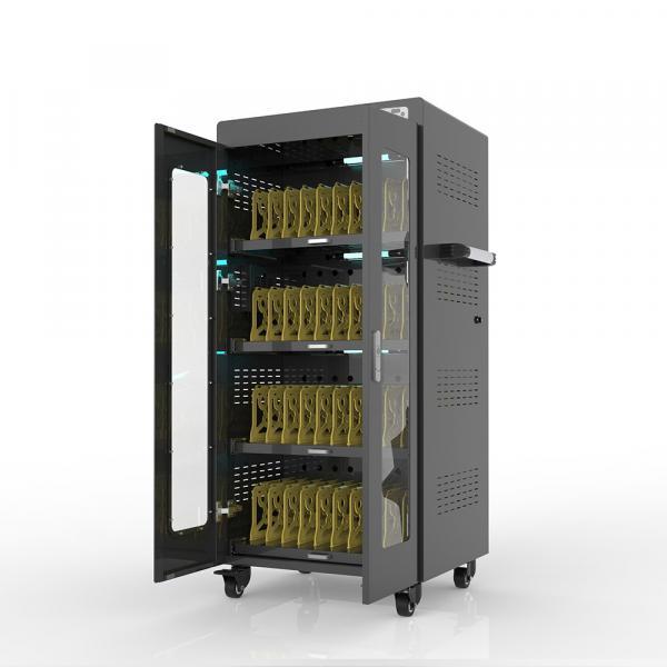 """Notebook-Ladewagen für bis zu 40 Geräte - bis 14"""" - schwarz - inkl. UV-C Desinfektion und Smart Con"""