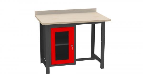 Werkstatttisch mit Plexiglastür - 880x1140x725 mm (HxBxT)