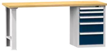 Arbeitstisch KOMBI 700 - 1 + 1 + 1 + 1 + 1 Schubladen
