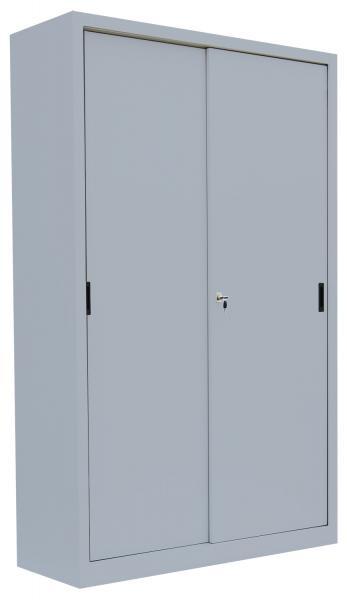 Schiebetürenschrank - 4 Einlegeböden - 1950x1200x450 mm (HxBxT)