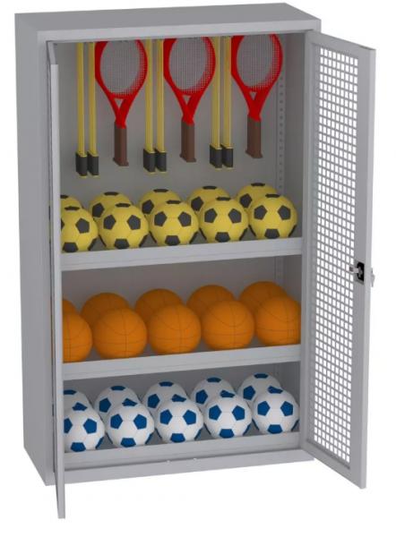 Sportschrank - 2 Einlegeböden - 1950x1200x500 mm (HxBxT)