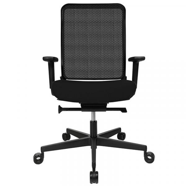 Bürodrehstuhl W1C Low Dondola - Netzrücken - Kunststofffußkreuz - GS-zertifiziert
