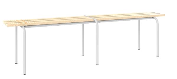 Sitzbank freistehend - mit 3 Holzlatten - 460x1600x420 mm (HxBxT)
