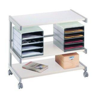 Bürowagen, 3 Ebenen, 2 Ablageboxen, 670x810 x430 mm (HxBxT)