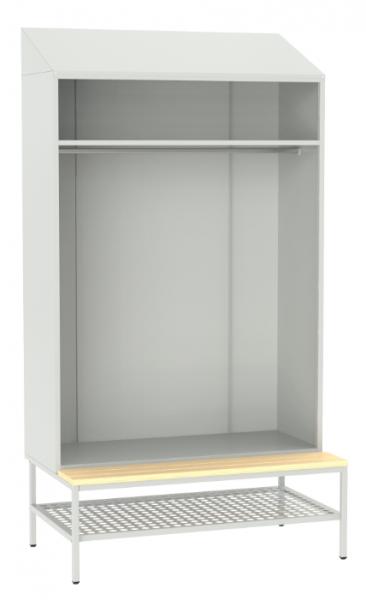 offene Garderobe mit Sitzbank - 2190x1175x490/745 mm (HxBxT)