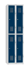 Garderobenschrank - 2 Abteile - 4 Fächer - 1850x800x500 mm (HxBxT)