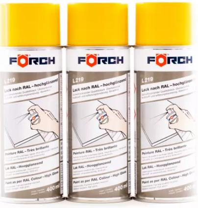 FÖRCH 3er Set Spraydosen Lack ginstergelb - hochglänzend RAL1032 L219