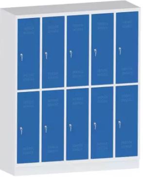 Garderobenschrank - 5 Abteile - 10 Fächer - Grundschule - 1500x1480x480mm (HxBxT)
