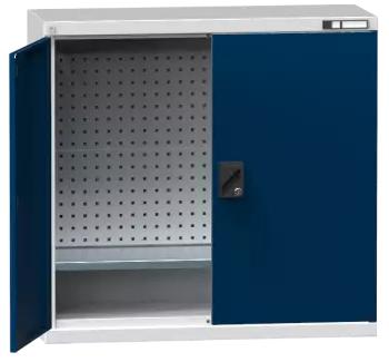 Flügeltürenschrank/ Werkzeugschrank SK2 - gelochte Wände - 1000x1044x405 mm (HxBxT)