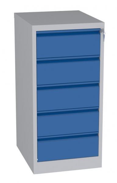 Karteischrank - 5 Schubladen - 1090x525x630 mm (HxBxT) - Hängeregister A5 - waagerecht - 2 Reihen