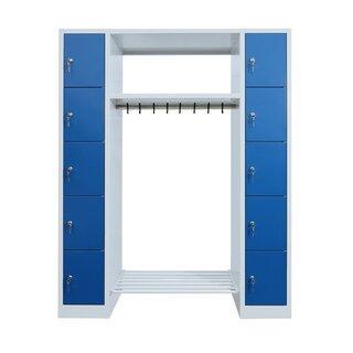 offene Garderobe - 10 Fächer - 1800x1430x500 mm (HxBxT)