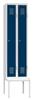 Spind - 2 Abteile - mit Bank - 2080x600x500 mm (HxBxT)