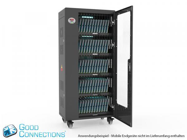 Tablet-Ladewagen für bis zu 65 Geräte - inkl. UV-C Desinfektion, Smart Control, Synchronisierung